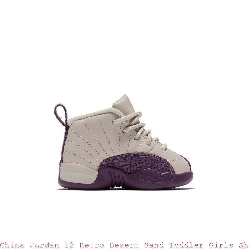 timeless design b64d6 f1d97 China Jordan 12 Retro Desert Sand Toddler Girls Shoe - cheap kids jordans -  S0376