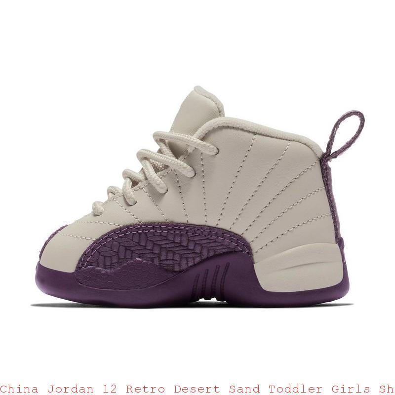 timeless design 8bdce b7e76 China Jordan 12 Retro Desert Sand Toddler Girls Shoe - cheap kids jordans -  S0376