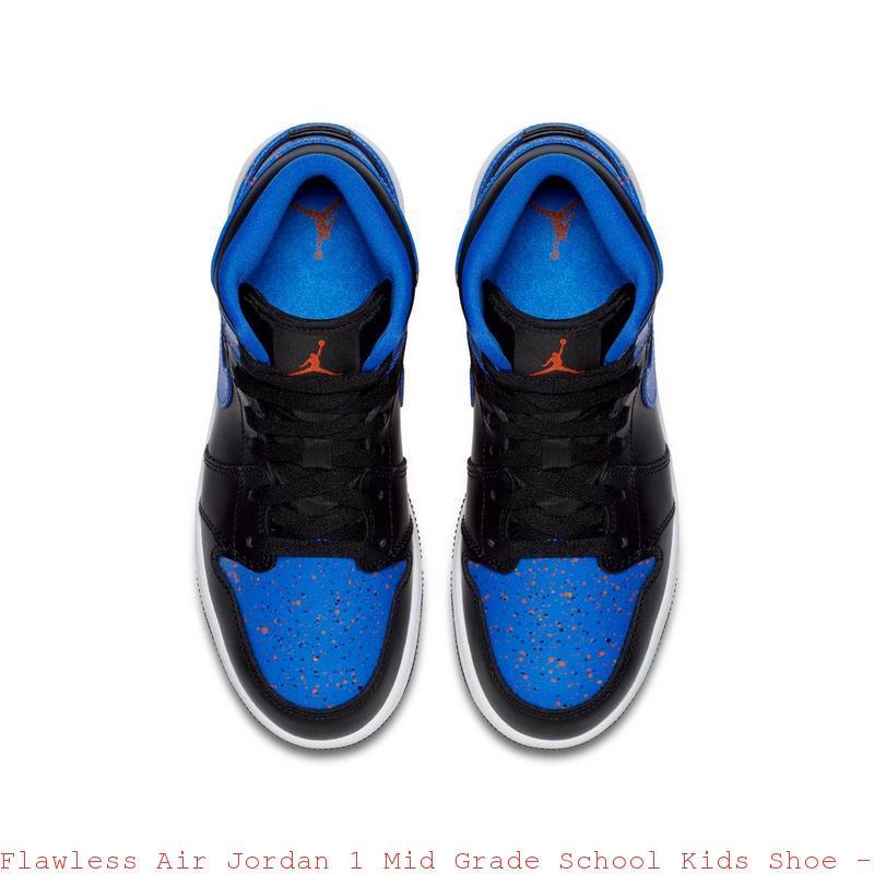 watch cfe90 3de23 Flawless Air Jordan 1 Mid Grade School Kids Shoe - cheap jordans 14 - R0174