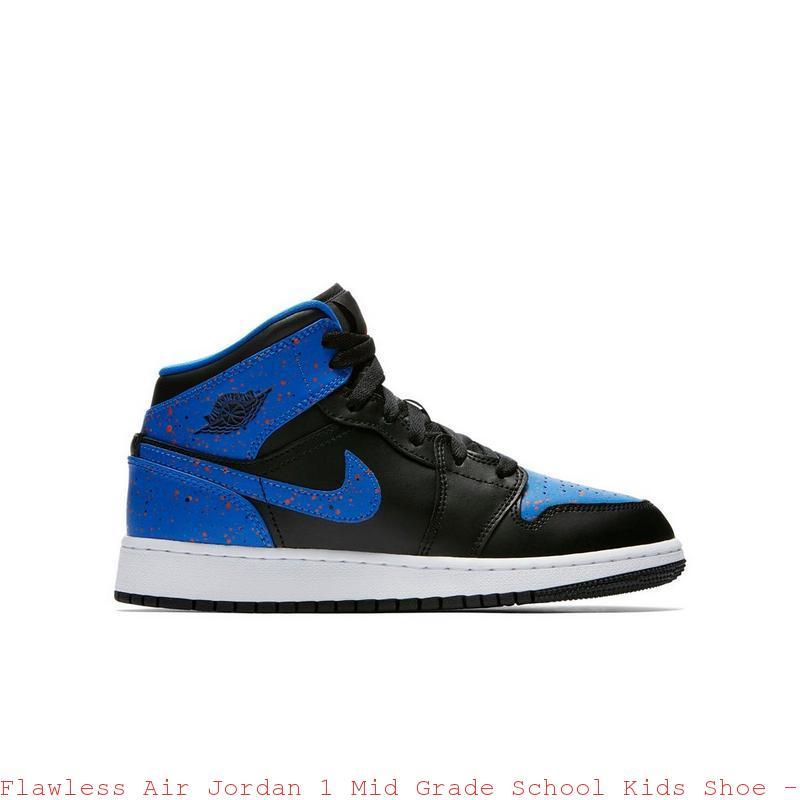 Flawless Air Jordan 1 Mid Grade School