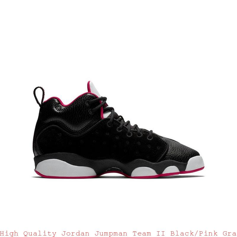 1a6cbb4da9d High Quality Jordan Jumpman Team II Black/Pink Grade School Girls Shoe – air  max shoes ...
