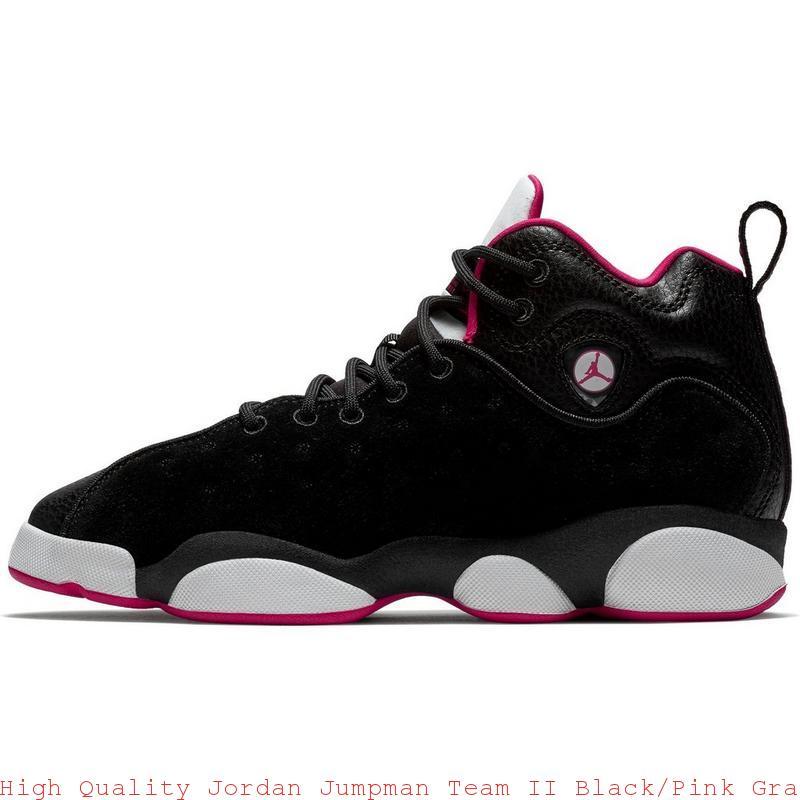 8135b6e2ae High Quality Jordan Jumpman Team II Black/Pink Grade School Girls Shoe ...
