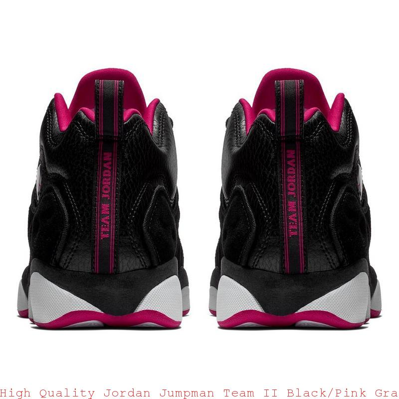 0bb4d2cc15e41e High Quality Jordan Jumpman Team II Black Pink Grade School Girls Shoe –  air max shoes black and white ...