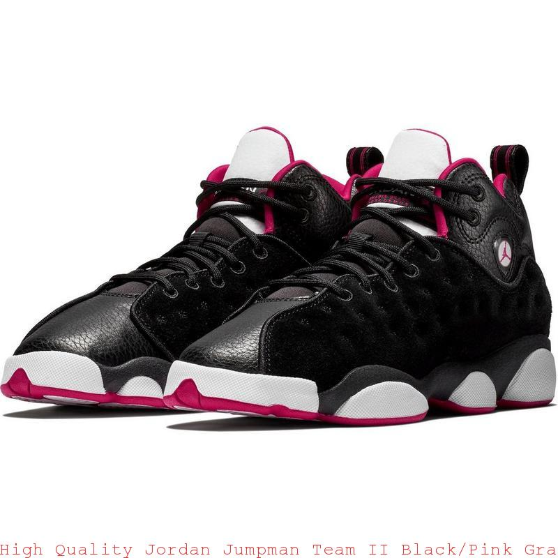 bf77dbd2ada762 High Quality Jordan Jumpman Team II Black Pink Grade School Girls Shoe –  air max shoes black and white ...