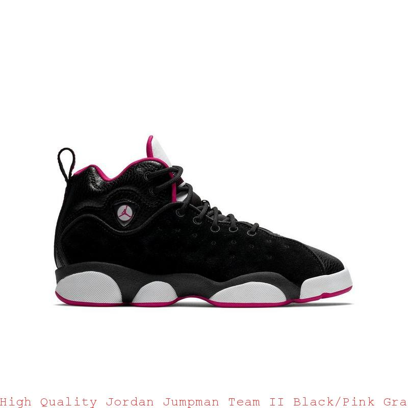 64c8180227c2 High Quality Jordan Jumpman Team II Black Pink Grade School Girls Shoe – air  ...
