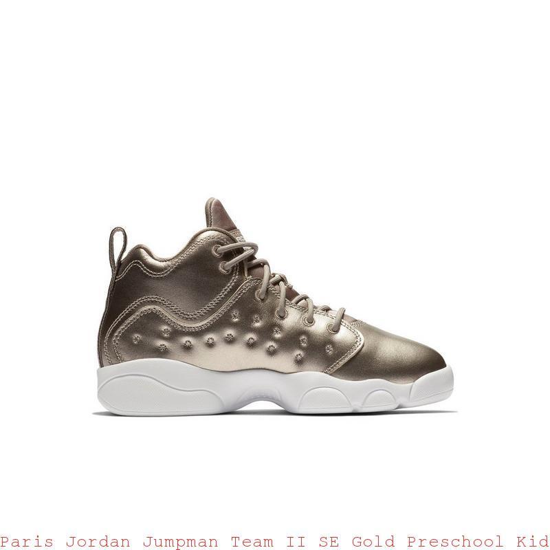 7859fb901c56 Paris Jordan Jumpman Team II SE Gold Preschool Kids Shoe – cheap air jordans  ...