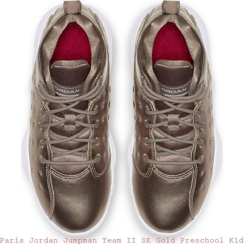 46da2f9ae3d32 Paris Jordan Jumpman Team II SE Gold Preschool Kids Shoe – cheap air jordans  ...